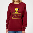 marvel-avengers-iron-man-pixel-art-women-s-christmas-sweatshirt-burgundy-m-burgunderrot, 20.49 EUR @ sowaswillichauch-de