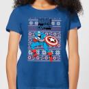 marvel-avengers-captain-america-women-s-christmas-t-shirt-royal-blue-xxl-royal-blue, 17.49 EUR @ sowaswillichauch-de