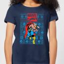 marvel-avengers-thor-damen-christmas-t-shirt-navy-blau-s-marineblau