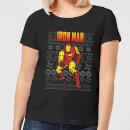 marvel-avengers-classic-iron-man-damen-christmas-t-shirt-schwarz-xxl-schwarz