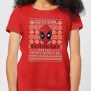 marvel-deadpool-damen-christmas-t-shirt-rot-xxl-rot