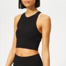 adidas Women's Warp Knitted Crop Top M Black
