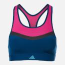 adidas Women's Don't Rest Swim Crop Top Blue-Pink 32A Multi