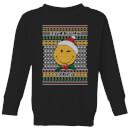 smiley-world-have-a-smiley-holiday-kids-christmas-sweatshirt-black-11-12-jahre-schwarz
