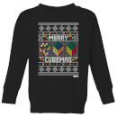 rubiks-merry-cubemas-kids-christmas-sweatshirt-black-11-12-jahre-schwarz