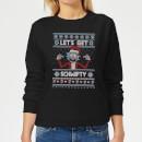 rick-and-morty-christmas-let-s-get-schwifty-damen-pullover-schwarz-s-schwarz