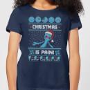 rick-and-morty-christmas-mr-meeseeks-pain-damen-t-shirt-navy-blau-s-marineblau