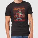 johnny-bravo-johnny-bravo-pattern-men-s-christmas-t-shirt-black-5xl-schwarz
