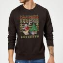 cow-and-chicken-cow-and-chicken-pattern-christmas-sweatshirt-black-xxl-schwarz