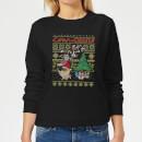 cow-and-chicken-cow-and-chicken-pattern-women-s-christmas-sweatshirt-black-xxl-schwarz