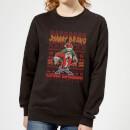 johnny-bravo-johnny-bravo-pattern-women-s-christmas-sweatshirt-black-5xl-schwarz