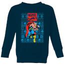 marvel-avengers-thor-kinder-pullover-navy-blau-3-4-jahre-marineblau