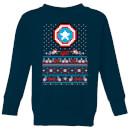 marvel-avengers-captain-america-pixel-art-kinder-pullover-navy-blau-3-4-jahre-marineblau
