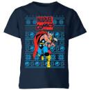 marvel-avengers-thor-kinder-t-shirt-navy-blau-3-4-jahre-marineblau