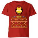 marvel-avengers-iron-man-pixel-art-kinder-t-shirt-rot-3-4-jahre-rot