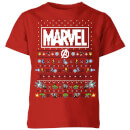 marvel-avengers-pixel-art-kinder-t-shirt-rot-3-4-jahre-rot