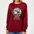star-wars-a-very-merry-sithmas-women-s-sweatshirt-burgundy-xs-burgunderrot