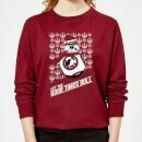 star-wars-let-the-good-times-roll-women-s-sweatshirt-burgundy-xs-burgunderrot, 19.99 EUR @ sowaswillichauch-de