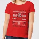 star-wars-i-find-your-lack-of-cheer-disturbing-damen-t-shirt-rot-l-rot
