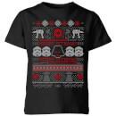star-wars-merry-sithmas-knit-kinder-t-shirt-schwarz-9-10-jahre-schwarz