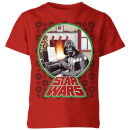 star-wars-a-very-merry-sithmas-kids-t-shirt-red-3-4-jahre-rot