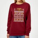 nintendo-christmas-zelda-pattern-damen-pullover-burgunderrot-xs-burgunderrot