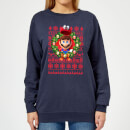 nintendo-christmas-mario-and-cappy-damen-pullover-navy-blau-l-marineblau
