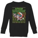 dexter-s-lab-pattern-kids-christmas-sweatshirt-black-11-12-jahre-schwarz