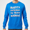 merry-christmas-ya-filthy-animal-christmas-sweatshirt-royal-blue-s-royal-blue