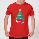 get-lit-men-s-christmas-t-shirt-red-l-rot