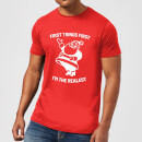 first-things-first-i-m-the-realest-men-s-christmas-t-shirt-red-l-rot, 17.49 EUR @ sowaswillichauch-de