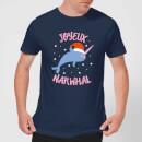 joyeux-narwhal-men-s-christmas-t-shirt-navy-s-marineblau