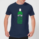let-the-christmas-fun-be-gin-men-s-christmas-t-shirt-navy-xl-marineblau
