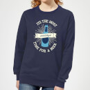 it-s-the-most-wonderful-time-for-a-beer-women-s-christmas-sweatshirt-navy-s-marineblau