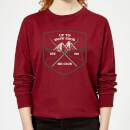 up-to-snow-good-women-s-christmas-sweatshirt-burgundy-s-burgunderrot