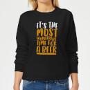 it-s-the-most-wonderful-time-for-a-beer-women-s-christmas-sweatshirt-black-s-schwarz