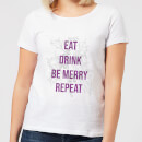eat-drink-be-merry-repeat-women-s-christmas-t-shirt-white-s-wei-
