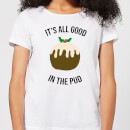it-s-all-good-in-the-pud-women-s-christmas-t-shirt-white-m-wei-