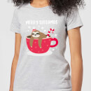 merry-slothmas-women-s-christmas-t-shirt-grey-xs-grau
