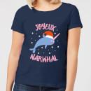 joyeux-narwhal-women-s-christmas-t-shirt-navy-s-marineblau