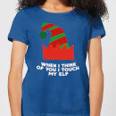 when-i-think-of-you-i-touch-my-elf-women-s-christmas-t-shirt-royal-blue-s-royal-blue
