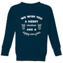 we-wish-you-a-merry-christmas-and-a-happy-new-year-kids-christmas-sweatshirt-navy-9-10-jahre-marineblau