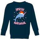 joyeux-narwhal-kids-christmas-sweatshirt-navy-7-8-jahre-marineblau
