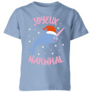 joyeux-narwhal-kids-christmas-t-shirt-sky-blue-7-8-jahre-sky-blue