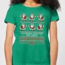 flossing-through-the-snow-women-s-t-shirt-kelly-green-xs-kelly-green