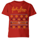 how-ridiculous-forty-four-knit-kids-christmas-t-shirt-red-5-6-jahre-rot