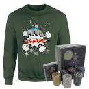 dc-batman-be-good-or-kaboom-christmas-jumper-and-joker-poker-bundle-forest-green-s-forest-green