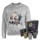 dc-batman-and-robin-santa-claus-christmas-jumper-and-joker-poker-bundle-grey-l-grau