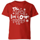 the-nice-list-is-overrated-kids-t-shirt-red-7-8-jahre-rot