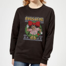 bullseye-bullseye-wreath-women-s-christmas-sweatshirt-black-xl-schwarz